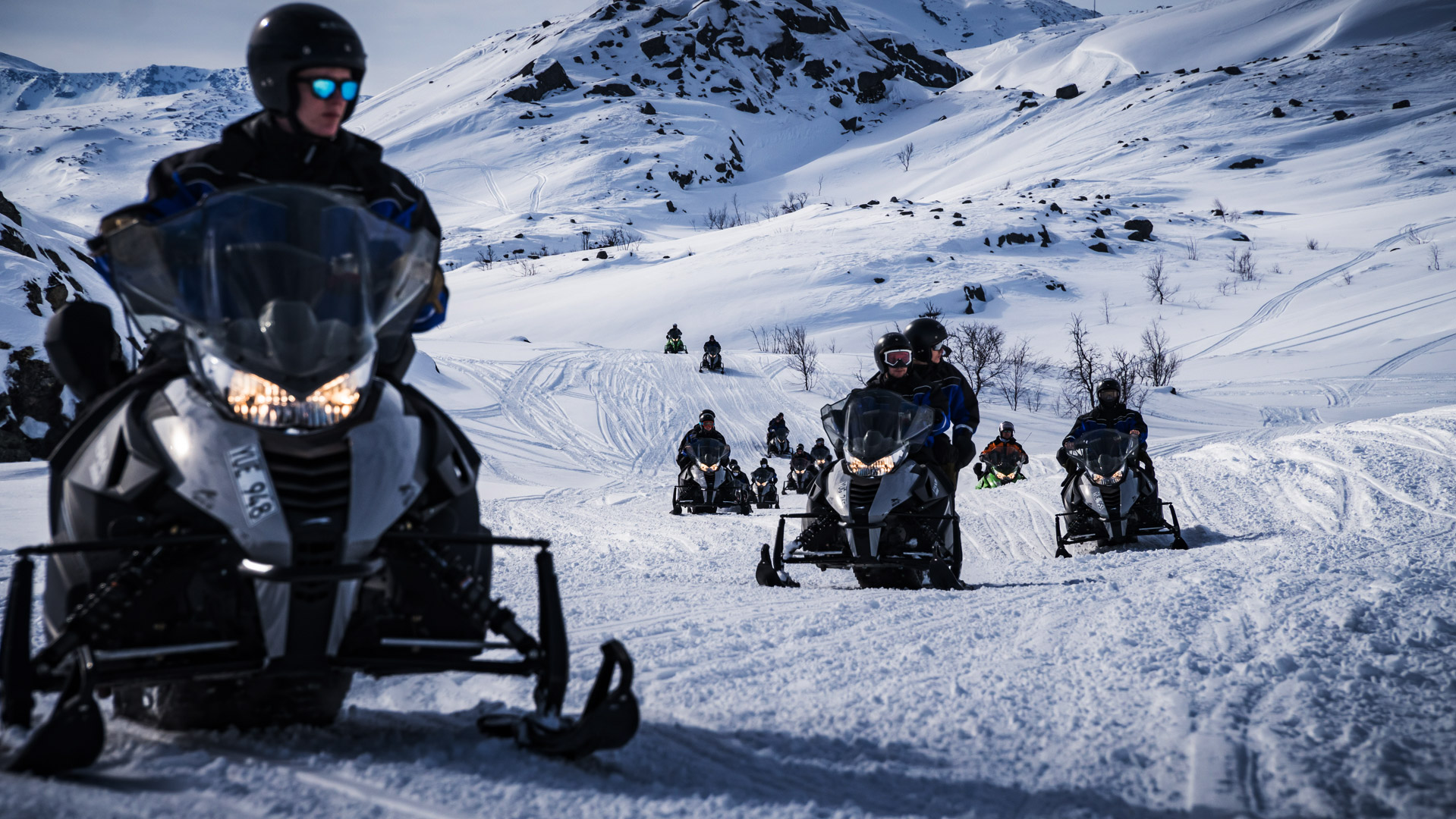 Snow-mobile safari lapland sweden