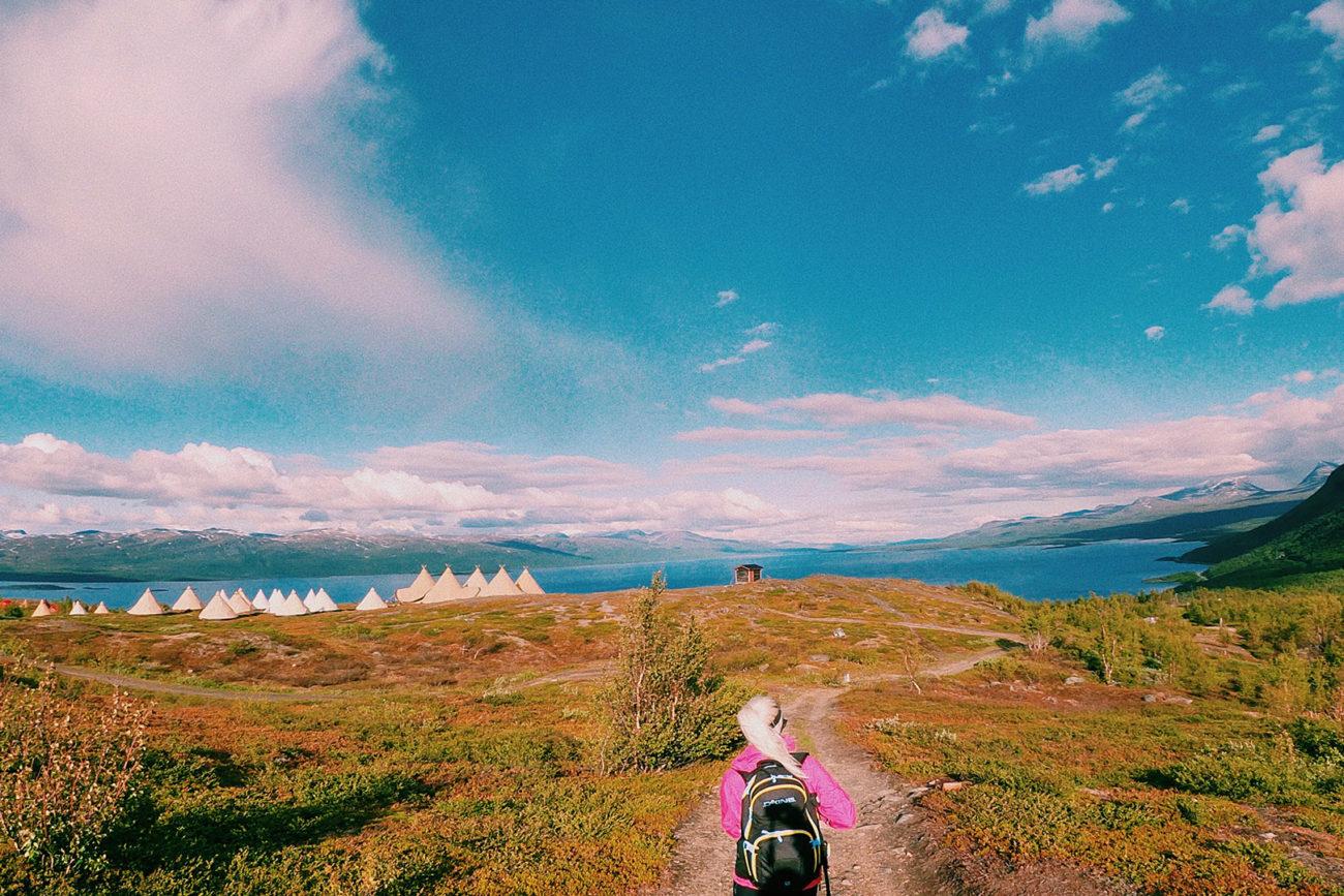 Arctic-event-arriving Tentipi-camp Lapporten